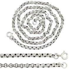 925 sterling silver link plain italy box necklace chain jewelry a8306