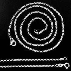 4.24gms box chain 925 silver 18inch chain jewelry r48677