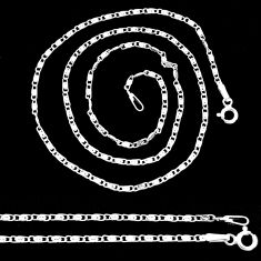 3.02gms box chain 925 sterling silver 18inch chain jewelry r48667
