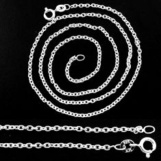 3.68gms link chain 925 sterling silver necklace jewelry r48755