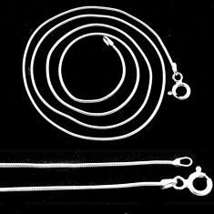 Wholesale lot of 5 snake chain in sterling silver 1mm