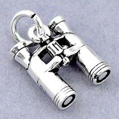 5.46gms baby jewelry binoculars charm sterling silver children pendant c21149