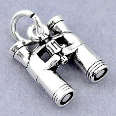 5.09gms baby jewelry binoculars charm sterling silver children pendant c21154