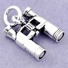 5.17gms baby jewelry binoculars charm sterling silver children pendant c21194