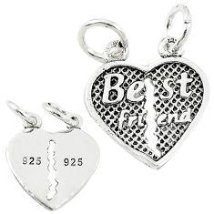 Best friend split baby jewelry charm sterling silver children pendant c21246