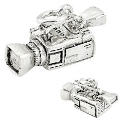 5.65gms camcorder charm solid baby 925 sterling silver children pendant c21160