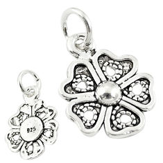2.02gms four-leaf clover good luck sterling silver baby pendant jewelry c21185