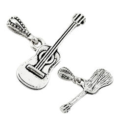 2.25gms music guitar baby charm jewelry sterling silver children pendant c21258