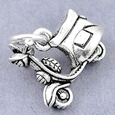 5.64gms scooter charm baby jewelry 925 sterling silver children pendant c21234