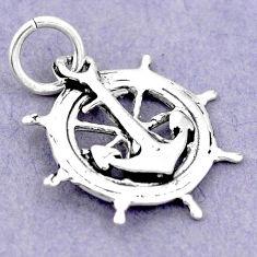 1.83gms traveller newborn charm 925 sterling silver children pendant c21189