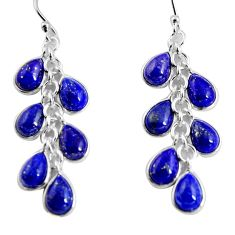 925 silver 16.47cts natural blue lapis lazuli chandelier earrings jewelry p90027
