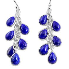 925 silver 16.39cts natural blue lapis lazuli chandelier earrings jewelry p90031