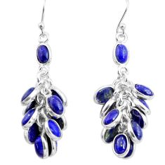 925 silver 23.13cts natural blue lapis lazuli chandelier earrings p77404