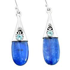 925 silver 12.04cts natural blue owyhee opal topaz dangle earrings p66454