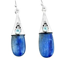 925 silver 11.62cts natural blue owyhee opal topaz dangle earrings p66457