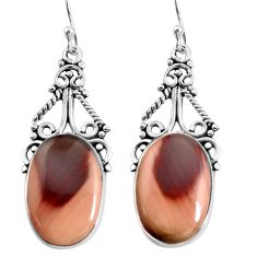 925 silver 16.17cts natural brown imperial jasper dangle earrings jewelry p91940