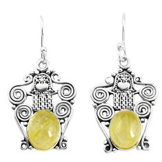 925 silver natural golden tourmaline rutile hand of god hamsa earrings p52235