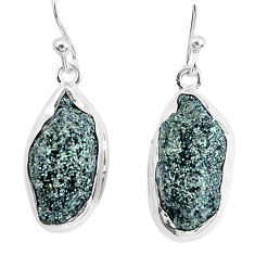 925 silver 16.54cts natural green seraphinite in quartz dangle earrings p50388