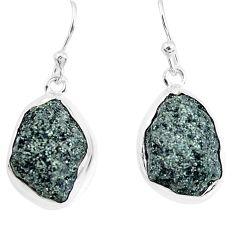 925 silver 16.87cts natural green seraphinite in quartz dangle earrings p50390