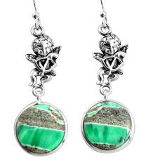 925 silver 17.53cts natural green variscite cupid angel wings earrings p91824