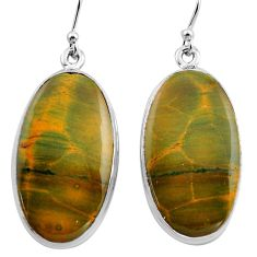 925 silver 27.64cts natural multi color ocean sea jasper dangle earrings p88672