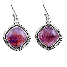 925 silver 12.03cts natural purple cacoxenite super seven dangle earrings p86168