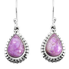 925 silver 5.22cts natural purple phosphosiderite (hope stone) earrings p52932