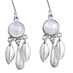 925 silver 9.54cts natural rainbow moonstone dreamcatcher earrings d32476