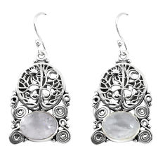 925 silver 6.54cts natural rainbow moonstone tree of life earrings p58337