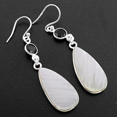 925 silver 17.08cts natural scolecite high vibration crystal earrings p88824