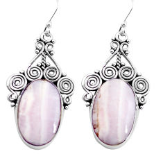 925 silver natural white scolecite high vibration crystal dangle earrings p72698