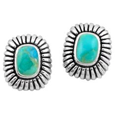 925 silver 3.02cts southwestern green arizona mohave turquoise earrings c4784