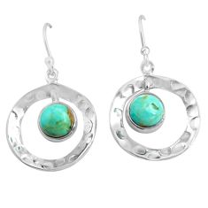 925 sterling silver 5.63cts blue arizona mohave turquoise dangle earrings p85604