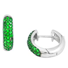 925 sterling silver 3.58cts green emerald (lab) earrings jewelry c1346