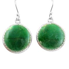 925 sterling silver 14.23cts green jade dangle earrings jewelry p72680