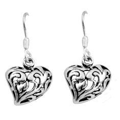 925 sterling silver 3.81gms indonesian bali style solid dangle earrings c5391