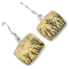 925 sterling silver multi color germany psilomelane dendrite earrings h71950