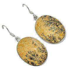 925 sterling silver multi color germany psilomelane dendrite earrings h71953