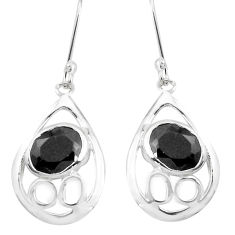 925 sterling silver 6.83cts natural black onyx dangle earrings jewelry p40211