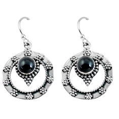 925 sterling silver 2.41cts natural black onyx dangle earrings jewelry p63864