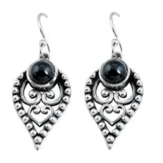925 sterling silver 2.94cts natural black onyx dangle earrings jewelry p63934