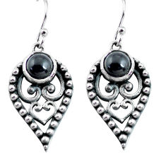 925 sterling silver 2.94cts natural black onyx dangle earrings jewelry p63980