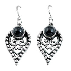 925 sterling silver 2.63cts natural black onyx dangle earrings jewelry p63992