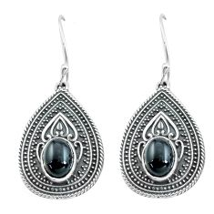 925 sterling silver 4.34cts natural black onyx dangle earrings jewelry p64964