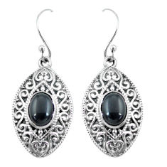 925 sterling silver 4.38cts natural black onyx dangle earrings jewelry p64967
