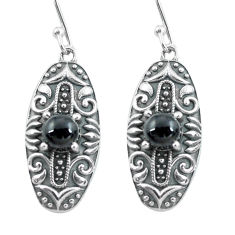 925 sterling silver 2.59cts natural black onyx dangle earrings jewelry p64978