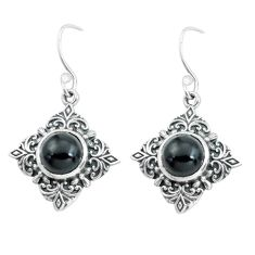 925 sterling silver 6.48cts natural black onyx dangle earrings jewelry p65004
