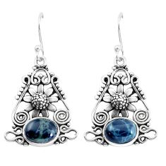 925 sterling silver 7.78cts natural black toad eye flower earrings p58378