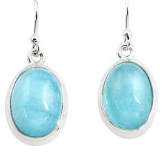 925 sterling silver 12.48cts natural blue aquamarine dangle earrings p76695