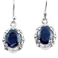 925 sterling silver 5.84cts natural blue iolite dangle earrings jewelry p62793